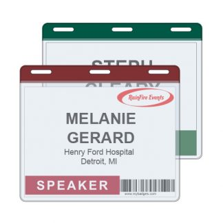 Colour Coded Badge Holders