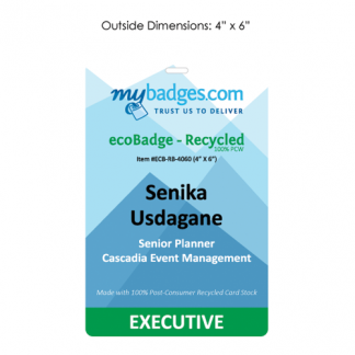 eco recycled cardstock eventbadge