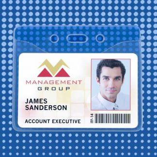 Clear Vinyl ID Badge Holders