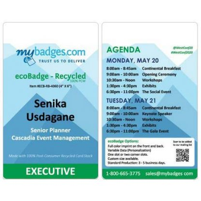 Eco Friendly EventBadges