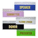 name badge ribbons